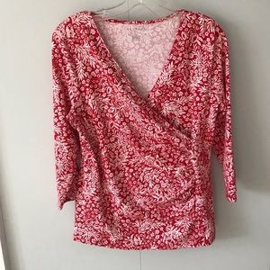 Red Talbots Blouse